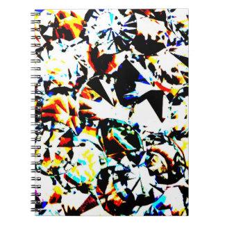 Multicolored Crystal Diamond Spiral Journal