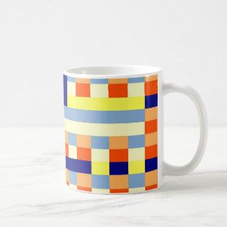 Multicolored cubes coffee mug