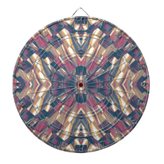 Multicolored Dark Modern Dartboard