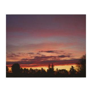 MultiColored Dawn Sky Wood Canvas
