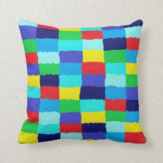 Multicolored Dekokissen in chessboard optics Cushion