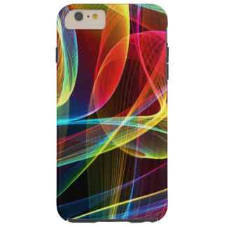 Multicolored Digital  Abstract Pattern Tough iPhone 6 Plus Case