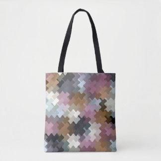 Multicolored Digital Camo Pattern Tote Bag