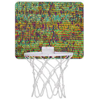 Multicolored Digital GrungePrint Mini Basketball Hoop