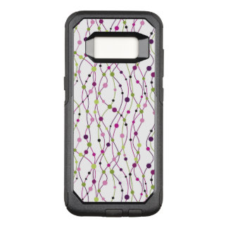 Multicolored dot background OtterBox commuter samsung galaxy s8 case