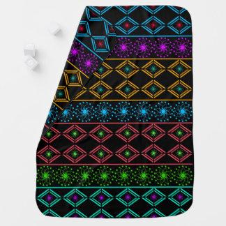 Multicolored examined pramblankets