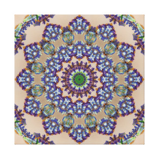 Multicolored Faux Knitted Mandala Gallery Wrapped Canvas