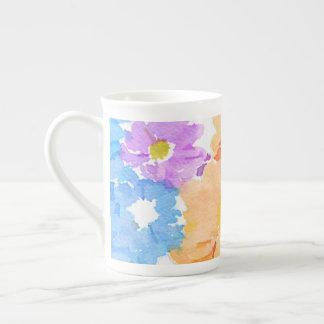Multicolored floral  Bone China Mug