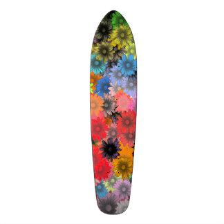 Multicolored floral pattern skateboard decks