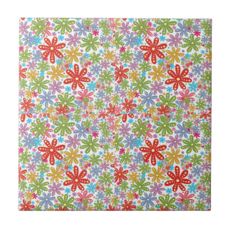 Multicolored Flowers Design Floral Pattern Ceramic Tiles