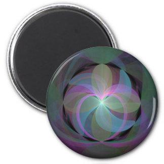 MultiColored Fractal Fan Magnet