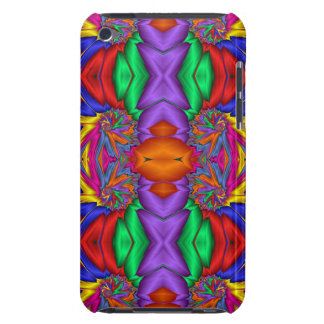 Multicolored fractal pattern barely there iPod covers