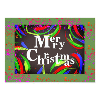 Multicolored & Fun Merry Christmas - Card