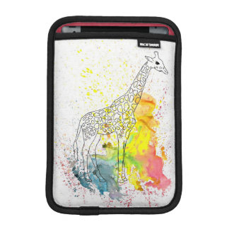 Multicolored Funky Giraffe (K.Turnbull Art) iPad Mini Sleeve