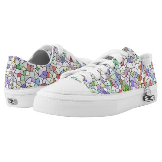 Multicolored Geomatric Pattern Low Tops