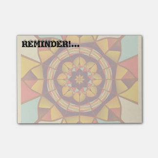 Multicolored geometric flourish post-it® notes