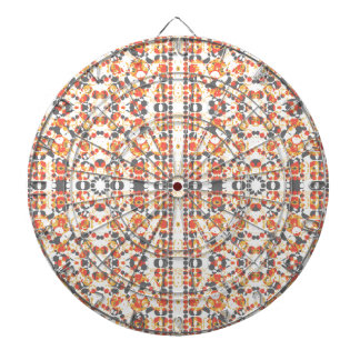 Multicolored Geometric Pattern Dartboard