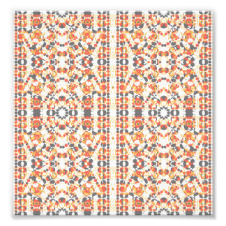 Multicolored Geometric Pattern Photo Print