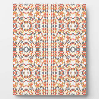 Multicolored Geometric Pattern Plaque