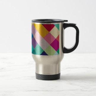 Multicolored Geometric Travel Mug