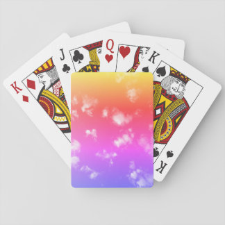 Multicolored Gradient Sky Playing Cards