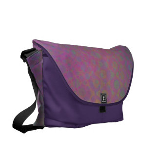 Multicolored Grungy Texture Abstract Remix Courier Bags