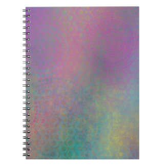 Multicolored Grungy Texture Abstract Remix Notebook