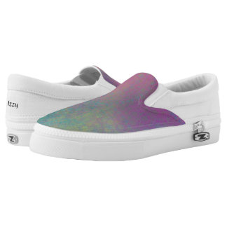 Multicolored Grungy Texture Abstract Remix Slip-On Shoes