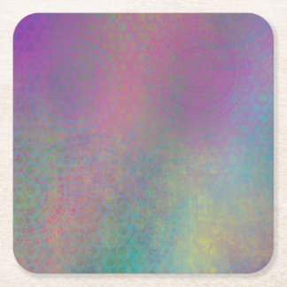 Multicolored Grungy Texture Abstract Remix Square Paper Coaster