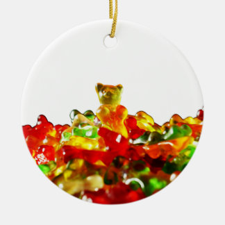 Multicolored Gummy Bears Ceramic Ornament