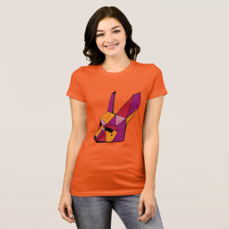 multicolored hare mask ladies TShirt Bunny
