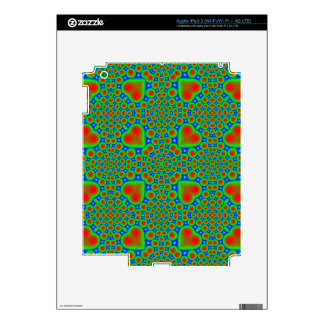 Multicolored hearth and circle pattern iPad 3 decals