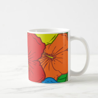 Multicolored Hibiscus Flowers #7 Coffee Mug