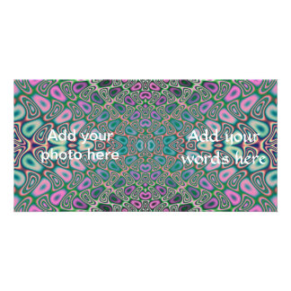 Multicolored Hologram Butterfly Fractal Abstract Card