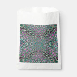 Multicolored Hologram Butterfly Fractal Abstract Favour Bags