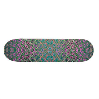 Multicolored Hologram Butterfly Fractal Abstract Skate Decks