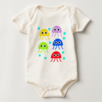 Multicolored jellyfishes baby bodysuit