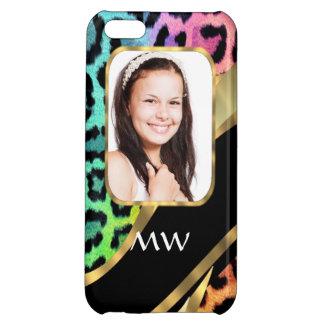 Multicolored leopard print case for iPhone 5C