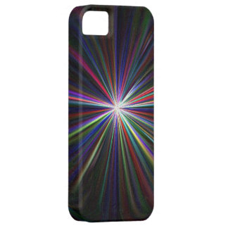 MULTICOLORED LIGHT RAYS iPHONE CASE