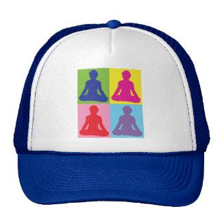 Multicolored Lotus Pose Yoga Trucker Hats