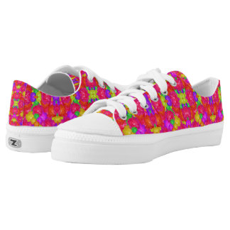 Multicolored Low Top Print Shoes Printed Shoes