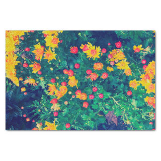 Multicolored meadow whimsical wild daisy flowers tissue paper