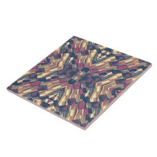 Multicolored Modern Geometric Ceramic Tile