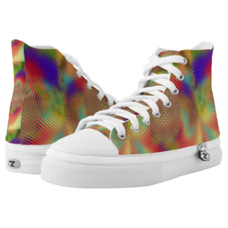 Multicolored Orb Hi-Top Printed Shoes