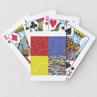 multicolored Pattern Bicycle Playing Cards
