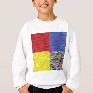 multicolored Pattern Sweatshirt