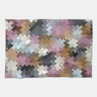 Multicolored Pattern Tea Towel