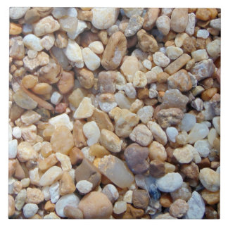 Multicolored pebbles 0020 large square tile