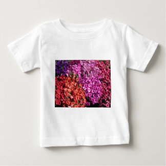 Multicolored petunia flowers texture background baby T-Shirt