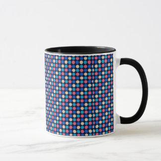 multicolored poke dots coffee mug